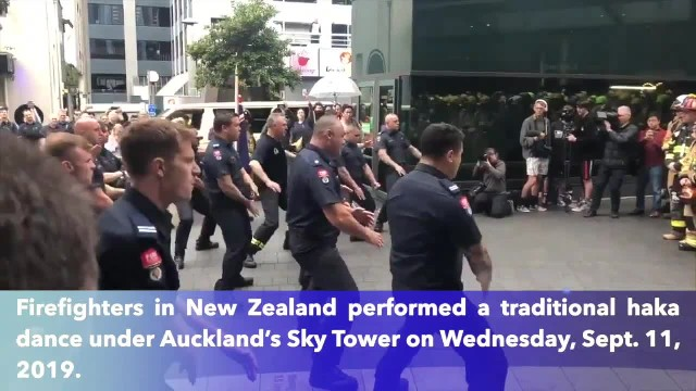 New Zealand firefighters honour fallen colleagues with haka at 9-11 commemoration