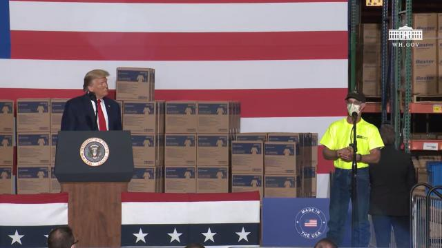 President Trump delivers remarks at Owens & Minor, Inc. distribution center