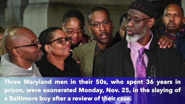 After 36 years behind bars for murder they did not commit, 3 Maryland men finally free