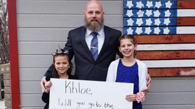 Veteran takes daughter of deceased Marine to daddy-daughter dance