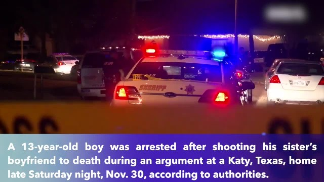 Boy, 13, shoots sister, kills her boyfriend at Texas home