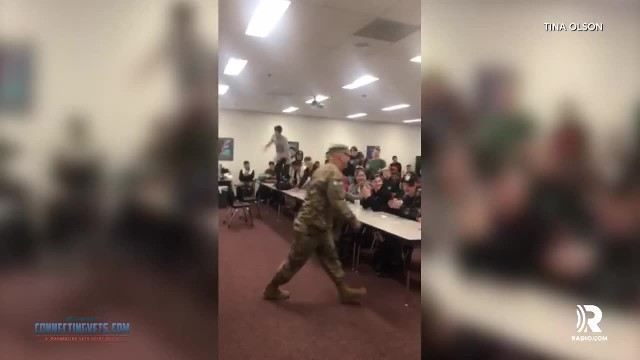 Students think a guest speaker is coming to class, then lose it when they see coach in uniform