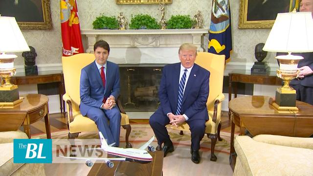 President Trump Meets Canadian PM Trudeau on USMCA, Offers to Help Canada With China