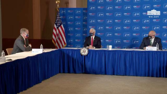 Vice President Pence leads a roundtable discussion