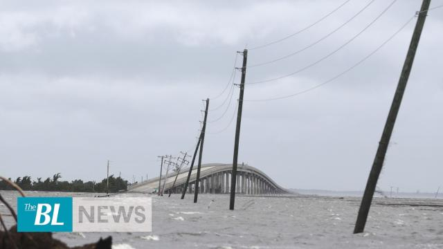 Storm surge causing people to shelter in their attacks in North Carolina