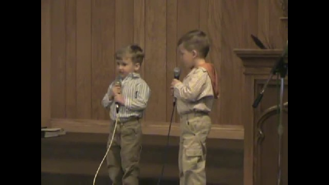 They Begin Singing A Classic Hymn, Then Brother On The Left Steals The Show