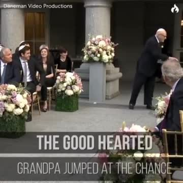 Bride asks 86-yr-old to be 'Flower Grandpa', but his mischievous antics have guests cracking up