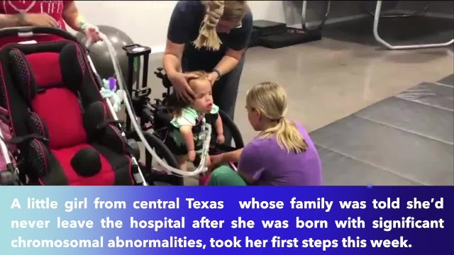 Central Texas girl never expected to walk takes first steps at age 5