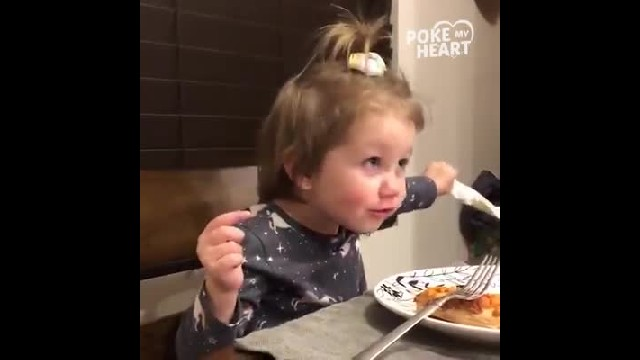 Toddler tells dad she has a boyfriend at dinner only dad's comeback has everyone rolling