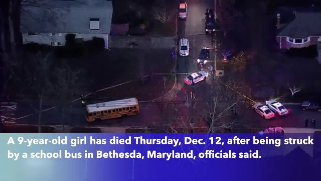 9-year-old Maryland girl dies after being struck by school bus