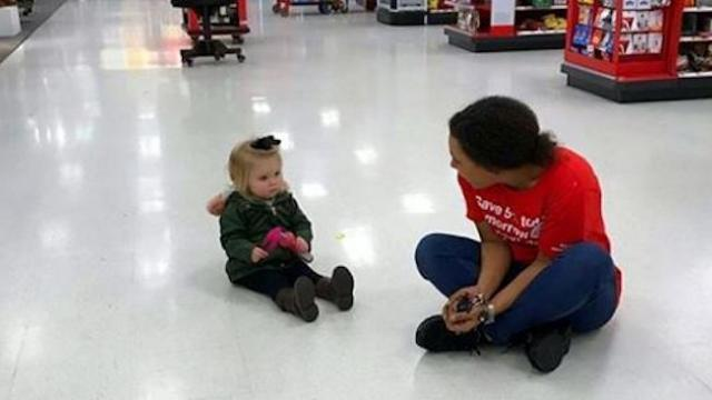 Target employee interferes with toddler throwing tantrum as mom's captured footage goes viral