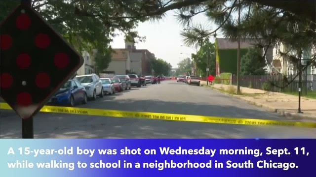 15-year-old boy shot while walking to school in south Chicago