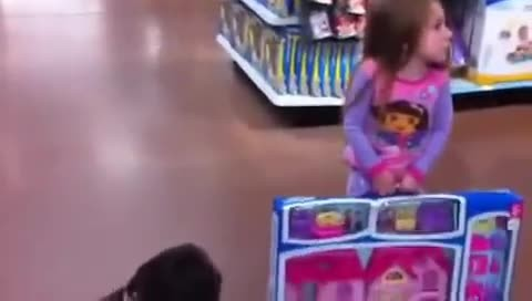 Spoiled Kids in Walmart. Epic temper tantrum. Self Control Fail. Total mayhem rotten little bratz