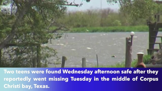 Two Texas teens rescued after spending the night in the water