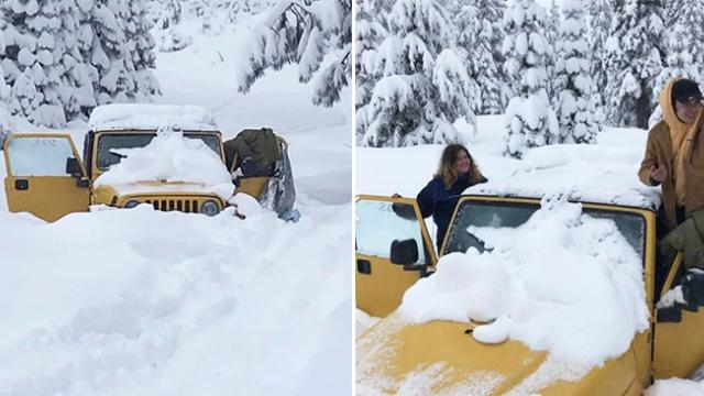 Couple trapped in jeep for 5 days during snow storm have finally been rescued