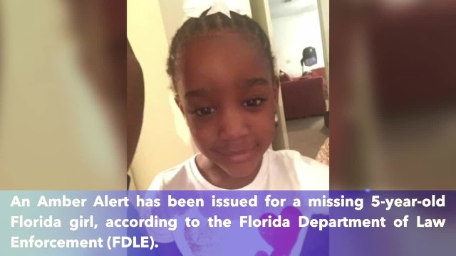 Amber Alert issued for 5-year-old Jacksonville, Florida girl