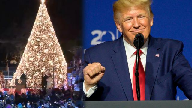 Melania and I would like to wish you a very, very Merry Christmas