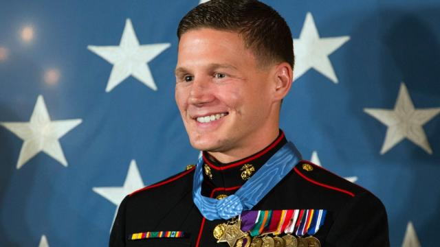 Brave soldier jumped on enemy grenade to save fellow marines