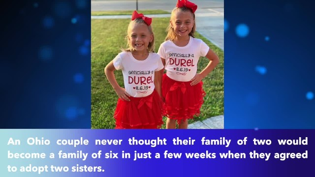 Ohio couple agrees to adopt sisters and finds out they're pregnant with twins two weeks later