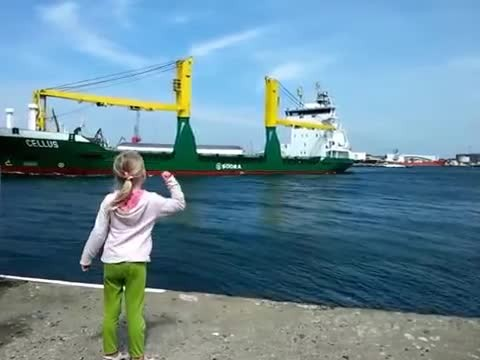Young girl begs for massive ship to honk. 10 million have watched her regret it immediately