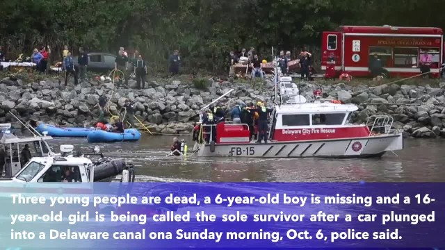 3 dead, child missing after car plunges into Delaware canal