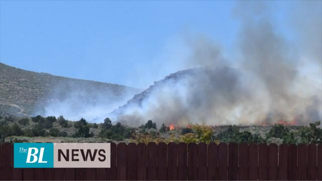 Firefighters battle wildfire threatening some 100 Nevada homes