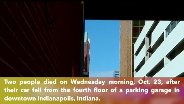 2 dead after car falls 4 stories from parking garage downtown
