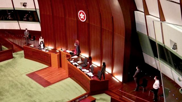 Three ex-lawmakers arrested in Hong Kong