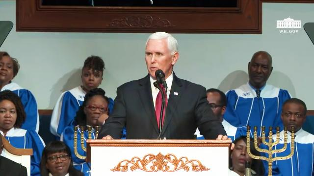 Vice President Pence delivers remarks at a Church service at Holy City Church of God in Chri