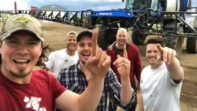 These farmers sang their own rendition of a country classic and now it's going viral