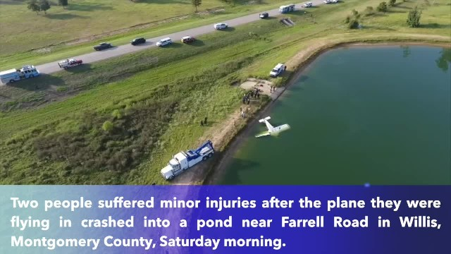 Pilot and passenger injured after plane crashes into pond in Texas