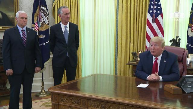 President Trump meets with the CEO of Gilead, Daniel O'Day