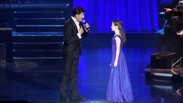 12-year-old girl brings famous singer to his knees when she sings opera like an angel