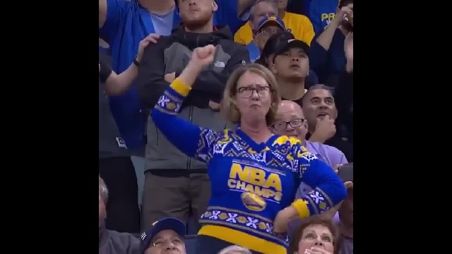 Mom suddenly busts out crazy dance moves on NBA jumbotron, Internet goes wild over hilarious video