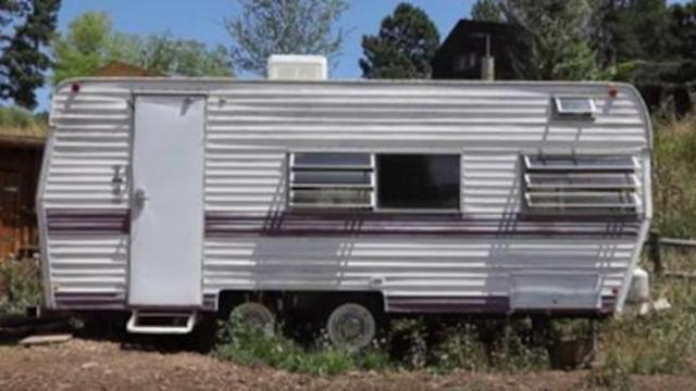 She had a hard time adjusting to life in an $1800 camper Two