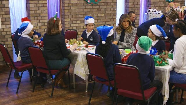 First Lady Melania Trump Visits the Salvation Army in London