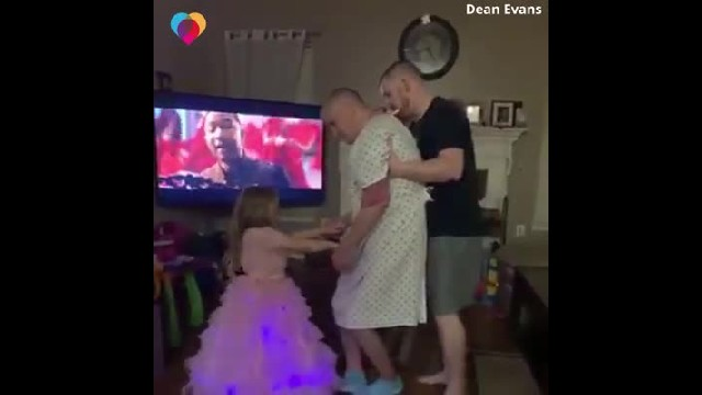 Little girl wants to dance with frail grandpa underestimating haunting footage family catch on camer