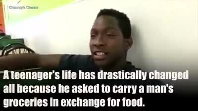 Hungry teen accepts stranger's offer for a ride, not knowing he's going to change his home forever