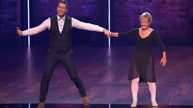 80-year-old ballerina is so light on her feet, one judge can't help but join her in a waltz