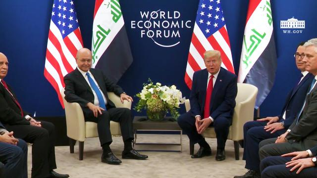President Trump participates in a bilateral meeting with the President of the Republic of Iraq