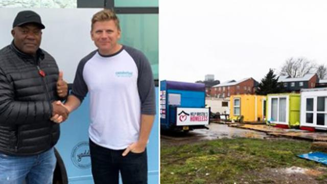 Man transforms shipping containers into shelter for the homeless and they look amazing!