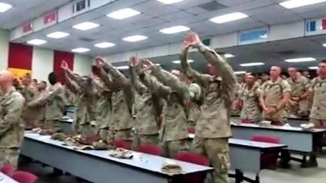 Marines hold worship service on military base with captured footage going viral moment it leaks to p