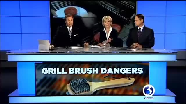 Mom cleans grill and cooks burgers. Son nearly dies after eating burger, so mom issues warning
