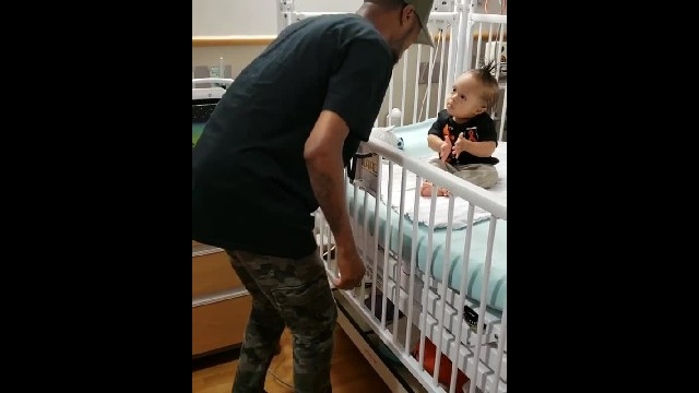 Dad who went viral for dancing with baby in the hospital announces toddler is cancer-free