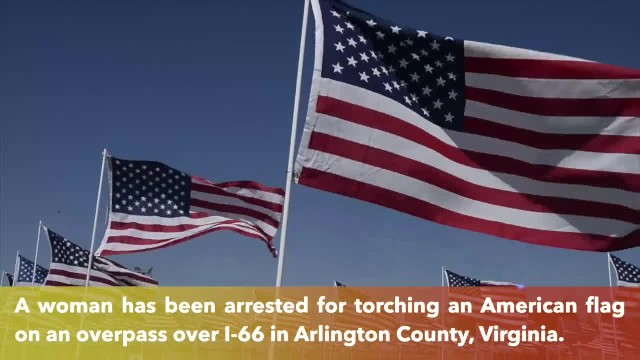 22-year-old woman arrested for torching American flag that was part of 9-11 memorial tribute