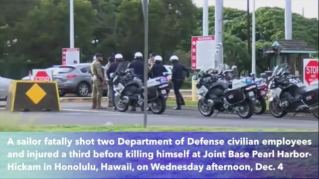 Sailor at Pearl Harbor Naval Shipyard kills 2, injures 1 before turning gun on himself