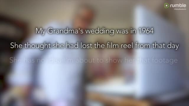 Senior mourns long-lost wedding videos - 54 years later, grandson tells her to look at screen