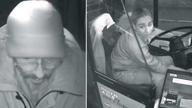 Homeless man saved from bitter cold by female driver, who let him ride bus all night