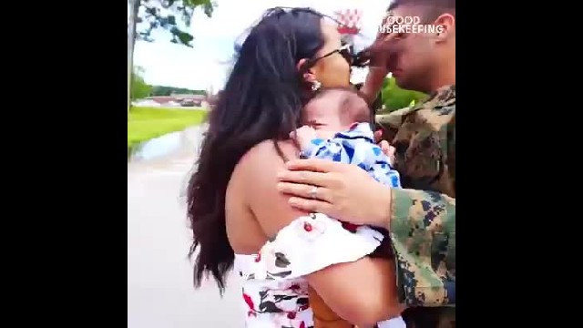 Marine Meets Newborn Son For 1st Time & The Video Has The Internet Bawling