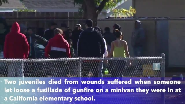 Boys, ages 11 and 14, shot to death outside California elementary school